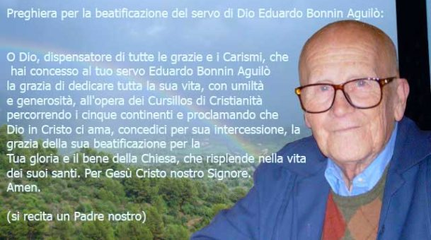 Preghiera per la beatificazione di Edoardo Bonnin Aguilò