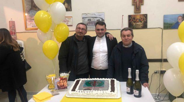 Festa per don Giampietro per la sua ordinazione sacerdotale